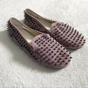 RARE! UNIF Hellraiser lilac spiked flats size 7